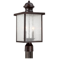Newberry 2 Light 19 inch English Bronze Post Lantern in Seeded