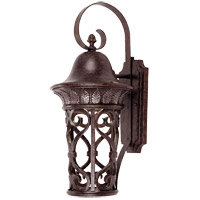 Savoy House Aficianado 1 Light Dark Sky Outdoor Wall Lantern in New Tortoise Shell w/Silver 5-6051-DS-8