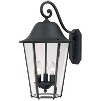 Savoy House Truscott 3 Light Outdoor Wall Lantern in Black 5-6213-BK photo thumbnail