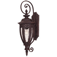Savoy House Dehart 1 Light Outdoor Wall Lantern in Bark and Gold 5-6522-52