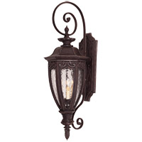 Savoy House Dehart 3 Light Outdoor Wall Lantern in Bark and Gold 5-6523-52