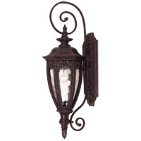 Savoy House Dehart 1 Light Outdoor Wall Lantern in Bark and Gold 5-6528-52 photo thumbnail