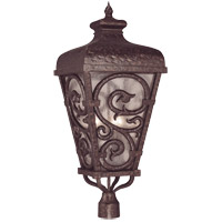 Savoy House Spaniard 3 Light Outdoor Post Lantern in New Tortoise Shell w/ Gold 5-7146-56