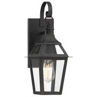 Savoy House 5-720-153 Jackson 1 Light 18 inch Black With Gold Highlighted Outdoor Sconce in Black/Gold