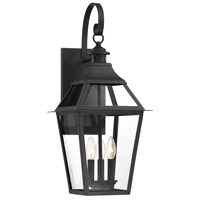 Savoy House 5-722-153 Jackson 3 Light 26 inch Black With Gold Highlighted Outdoor Sconce in Black/Gold
