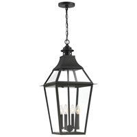 Savoy House 5-723-153 Jackson 4 Light 14 inch Black With Gold Highlighted Outdoor Pendant in Black/Gold