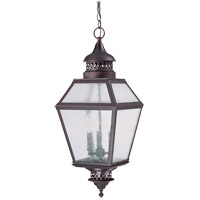 Chiminea 3 Light 11 inch English Bronze Outdoor Hanging Lantern