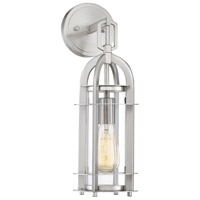 Merrill 1 Light 6 inch Satin Nickel Outdoor Lantern