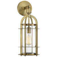 Merrill 1 Light 8 inch Warm Brass Outdoor Lantern