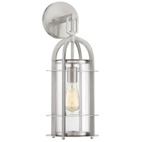 Merrill 1 Light 8 inch Satin Nickel Outdoor Lantern
