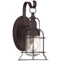 Scout 1 Light 13 inch English Bronze Outdoor Wall Lantern, Small