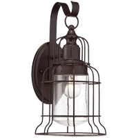 Scout 1 Light 16 inch English Bronze Outdoor Wall Lantern, Large