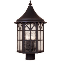 Savoy House Manchester 4 Light Outdoor Post Lantern in Slate 5-8255-25