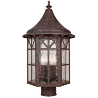 Savoy House Manchester 4 Light Outdoor Post Lantern in New Tortoise Shell 5-8255-56