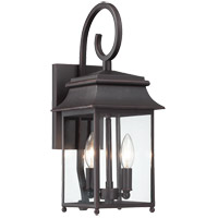 Durham 2 Light 7 inch Slate Outdoor Lantern in Clear