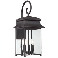 Durham 3 Light 23 inch Slate Outdoor Wall Lantern, with Scroll