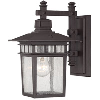 Linden 1 Light 13 inch Textured Bronze Outdoor Wall Lantern