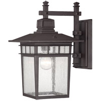 Linden 1 Light 15 inch Textured Bronze Outdoor Wall Lantern
