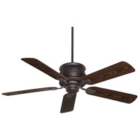 Capri 52 inch English Bronze with Chestnut Blades Outdoor Ceiling Fan