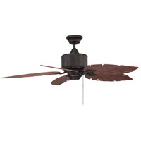 Portico 52 inch English Bronze with Rosewood Blades Outdoor Ceiling Fan