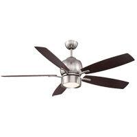 Girard 52 inch Satin Nickel with Chestnut Blades Ceiling Fan