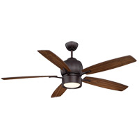 Girard 52 inch English Bronze with Walnut Blades Ceiling Fan