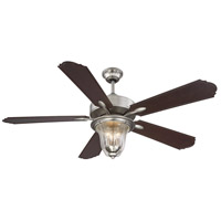 Trudy 52 inch Satin Nickel with Chestnut Blades Outdoor Ceiling Fan