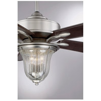 Savoy House 52-135-5CN-SN Trudy 52 inch Satin Nickel with Chestnut Blades Outdoor Ceiling Fan alternative photo thumbnail
