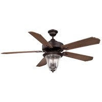 Trudy 52 inch English Bronze with Walnut Blades Outdoor Ceiling Fan