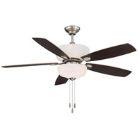 Sheffield 52 inch Satin Nickel with Chestnut/Maple Blades Ceiling Fan in Maple/Chestnut
