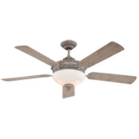 Bristol 52 inch Aged Wood Ceiling Fan in White Etched
