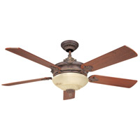 Bristol 52 inch Autumn Gold with Walnut Blades Ceiling Fan in Cream Marble