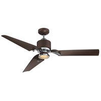 Wasp 52 inch Metallic Bronze and Chrome with Bronze Blades Ceiling Fan