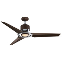 Starling 52 inch Metallic Bronze and Chrome with Bronze Blades Ceiling Fan