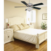 Savoy House 52-411-5RV-SN Charleston 52 inch Satin Nickel with Chestnut/Maple Blades Ceiling Fan in White Marble, Maple/Chestnut alternative photo thumbnail