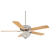 Charleston 52 inch Satin Nickel with Chestnut/Maple Blades Ceiling Fan in White Marble, Maple/Chestnut
