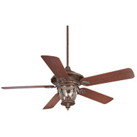 Savoy House Acropolis 3 Light Ceiling Fan in Bark and Gold 52-520-5RO-52