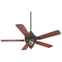 Savoy House Monticello 3 Light Ceiling Fan in Horseshoe Black 52-525-5M-24
