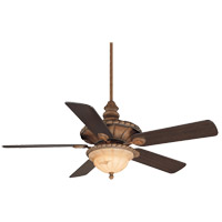 Savoy House Barley Twist 3 Light Ceiling Fan in Cottonwood (Blades sold separately) 52-530-MO-10