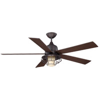 Hyannis 52 inch English Bronze with Chestnut Blades Outdoor Ceiling Fan