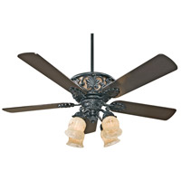Savoy House Monarch 4 Light Ceiling Fan in Ebony 52-810-5BLK-7