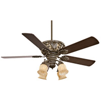Savoy House Monarch 4 Light Ceiling Fan in Gunsmoke 52-810-5CN-38