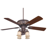 Savoy House 52-810-5WA-40 Monarch 52 inch Walnut Patina Walnut Ceiling Fan in Cream Carved Marble photo thumbnail