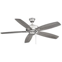 Wind Star 52 inch Brushed Pewter with Walnut/Chestnut Blades Ceiling Fan
