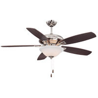 Mystique 52 inch Polished Nickel with Chestnut/Teak Blades Ceiling Fan