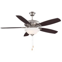 Mystique 52 inch Satin Nickel with Chestnut/Silver Blades Ceiling Fan
