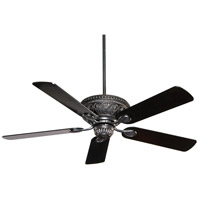 Indigo 52 inch Ebony with Black/Chestnut Blades Ceiling Fan