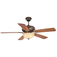 Banff 52 inch Parisian Bronze with Walnut/Beechwood Blades Ceiling Fan in Cream Textured