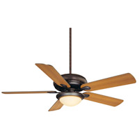Sierra Madres 52 inch English Bronze with Walnut/Teak Blades Ceiling Fan in Cream Frosted