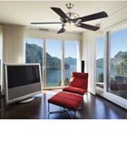 Savoy House 52-CDC-5RV-SN Sierra Madres 52 inch Satin Nickel with White/Chestnut Blades Ceiling Fan alternative photo thumbnail